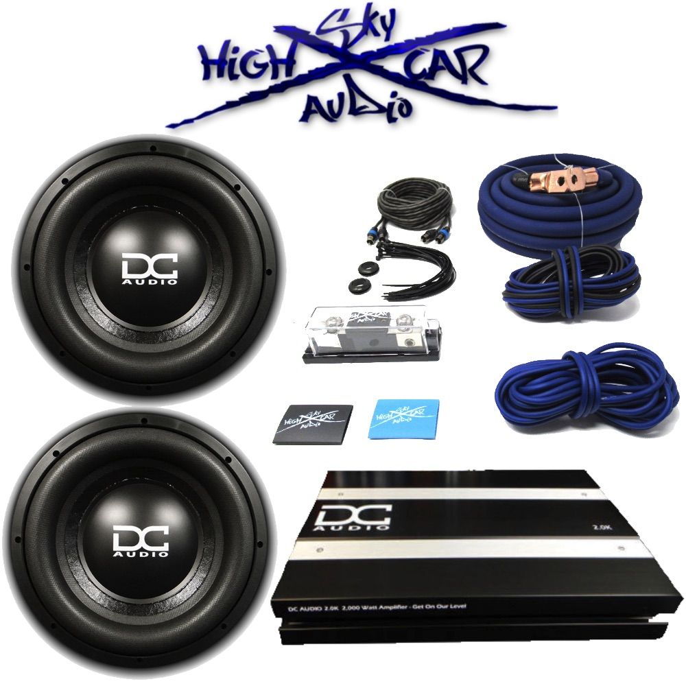 Cheap Car Audio Packages >> Dc Audio Package 2 Level 3 12 D4 2 0k Amp 0 Ga Sky High Amp Kit