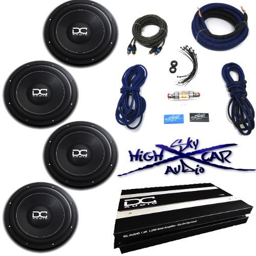 Cheap Car Audio Packages >> Dc Audio Package 4 Level 1 10 D2 1 2k Amp 4 Ga Sky High Car Audio Amp Kit