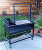 Argentine BBQ Grills with a Cart and a Side Brasero