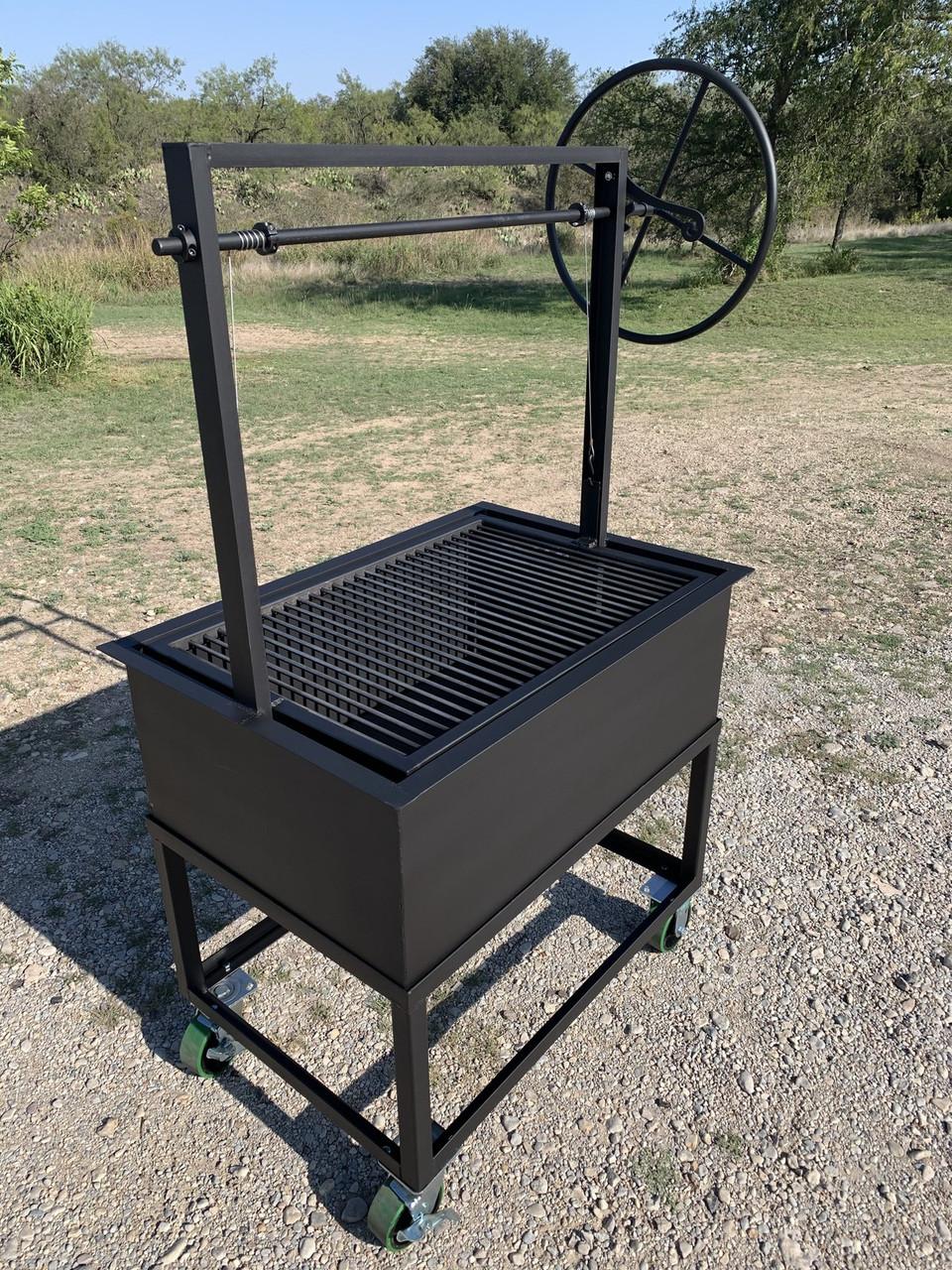 Portable Santa Maria Grill with Cart