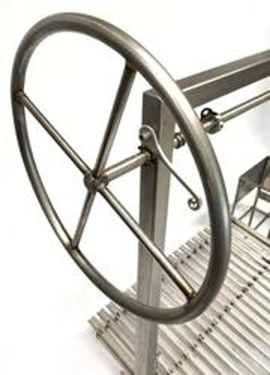 Wheel to raise and lower the BBQ Grill Grate