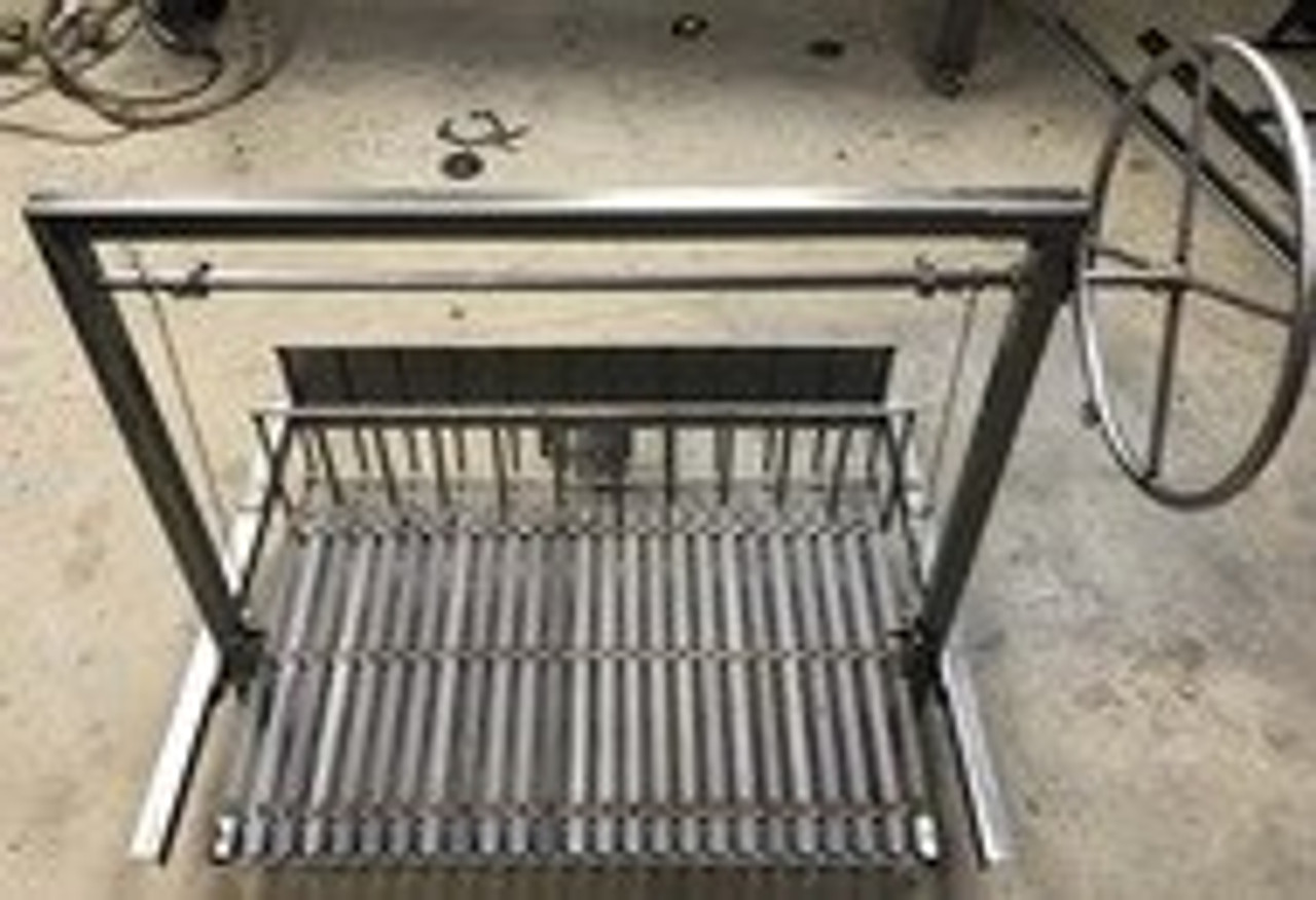 Stainless Steel Argentine Masonry Grill Kits with Rear Brasero and a 3 Sided Flange