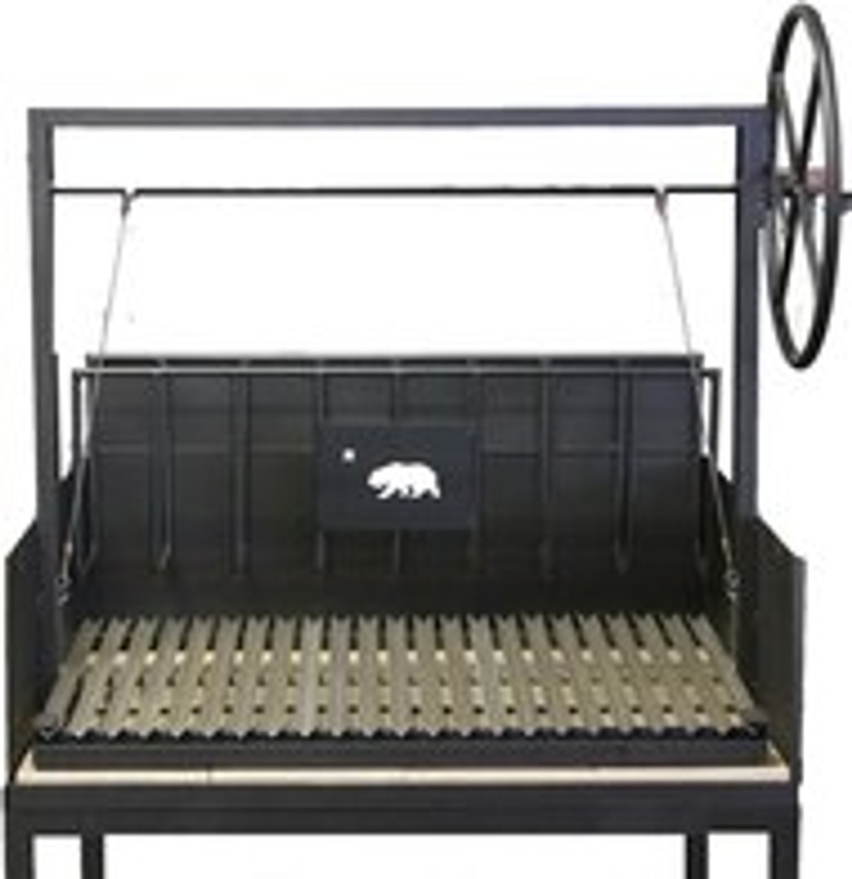 Argentine Counter Drop in Grills with a Firebox and a Rear Brasero