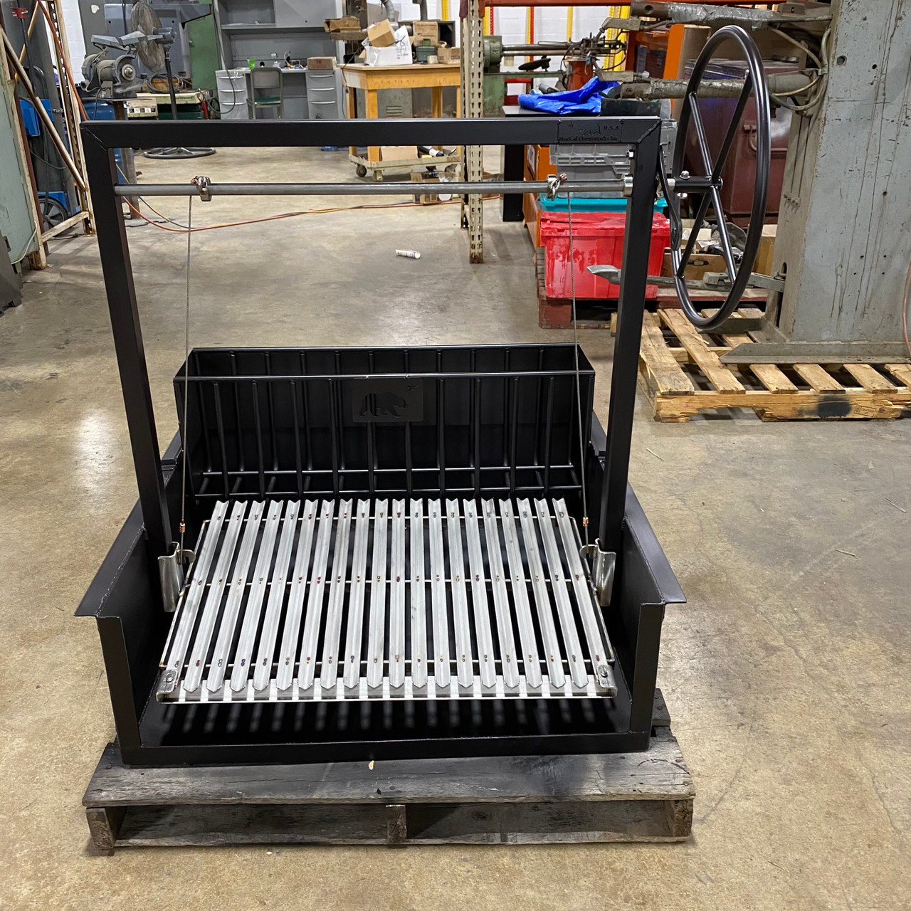 """The Baby Bear 48"""" Argentine Counter Drop-In Grill with Rear Brasero"""