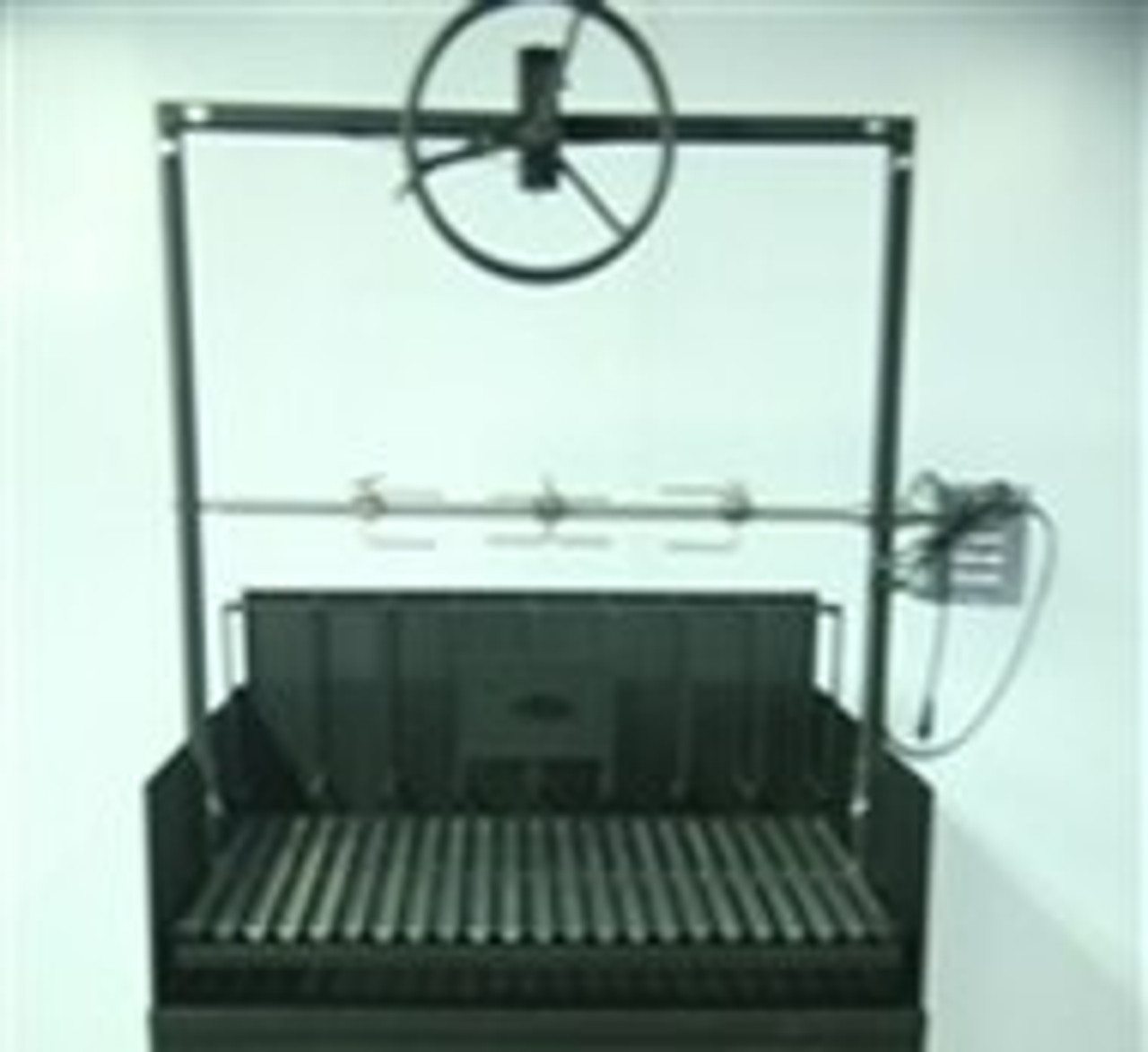 BBQ Grill with Cart and a Rotisserie