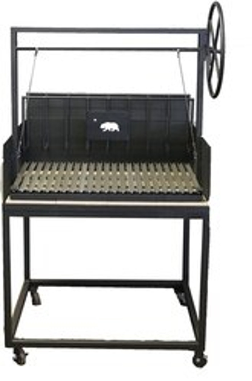 BBQ Grills with a Cart and a Rear Brasero