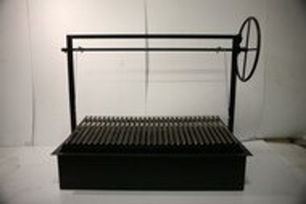 Argentine Counter Drop in Grills with a Firebox and No Brasero