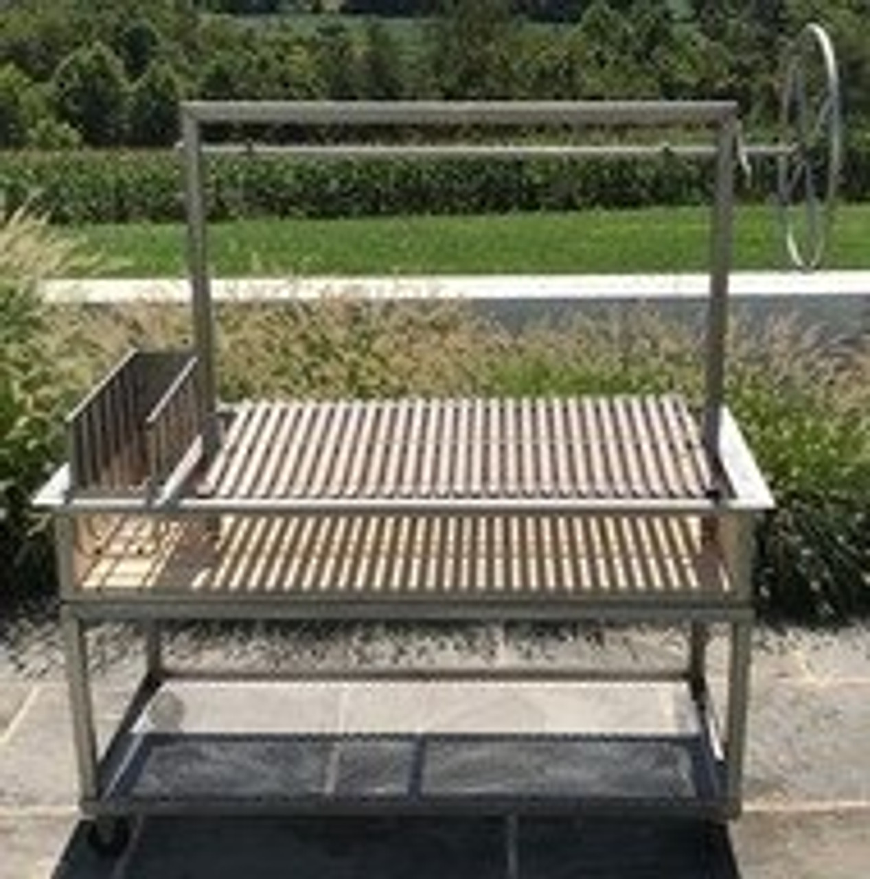 Stainless Steel Argentine Counter Drop in Grills with a Firebox and a Side Brasero  | Free Shipping*