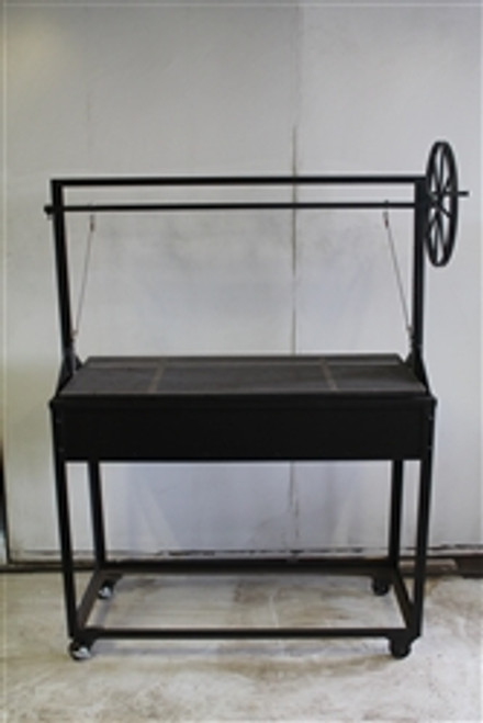 "54"" Charcoal Grill with Adjustable Grill Grate and Wheel - The Date"