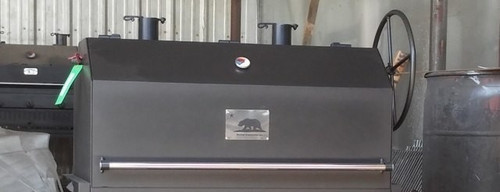 Hybrid Grill Black Bear Lid | The Cuttlefish Gas-Charcoal-Wood all in one grill