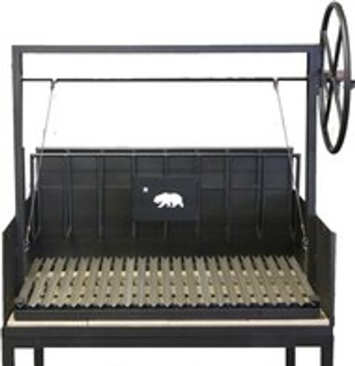 Argentine BBQ Grills with a Cart and a Rear Brasero