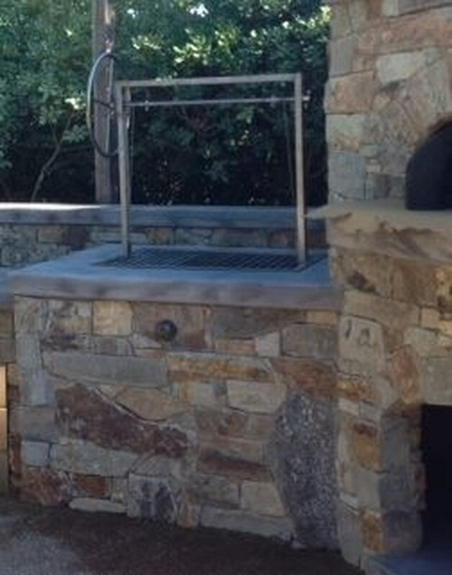 Stainless Steel Santa Maria BBQ Grill Kit with a Flange for a Santa Maria Firebox