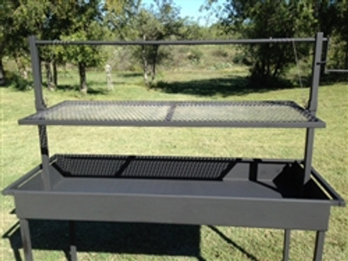 Charcoal Grill with Adjustable Grill Grate