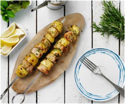 Recipe: Pork, Lemon & Potato Kebabs