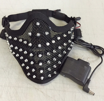 LED, Face, Mask, facemask,Dancer, DJ, Stage, Effect , Plur,, Glow mask, gas,EDMLuminous,illuminated,light up,