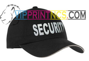 BLACK REFLECTIVE SECURITY HAT