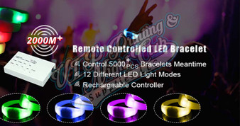 led remote control wristbands crowdsync