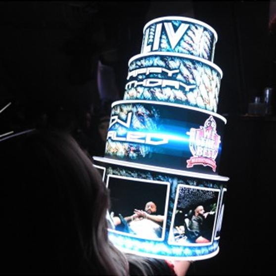 VIP LED BIRTHDAY CAKE BOTTLE PRESENTER HOLDER Bottle Presenters customized for your specific needs