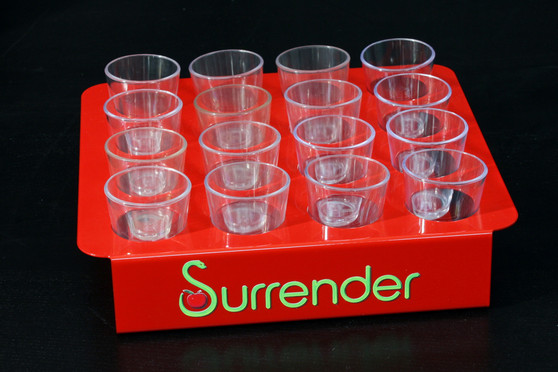 SHOT CUP TRAYS CUSTOM - 16 SHOT CUP CARRIER HOLDER with LOGO