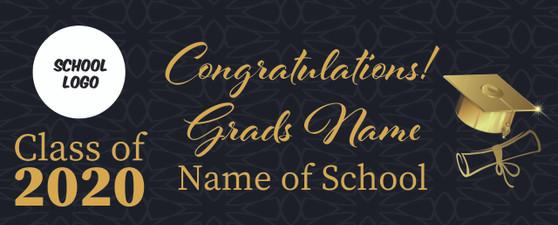 Graduation Banners 3 X 5 FT
