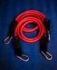 STRONG (25-30 lbs) Resistance Bands - RED PAIR