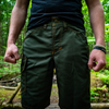 OLIVE SHARKFIN CARGO SHORTS