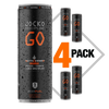 JOCKO GO DRINK - AFTER BURNER ORANGE - (Pack of 4)