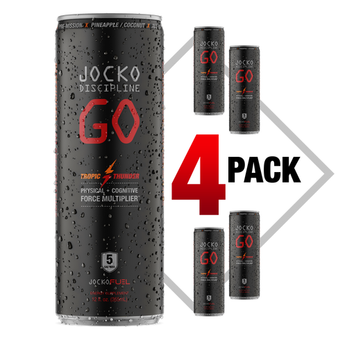 JOCKO GO DRINK - TROPIC THUNDER - (Pack of 4)