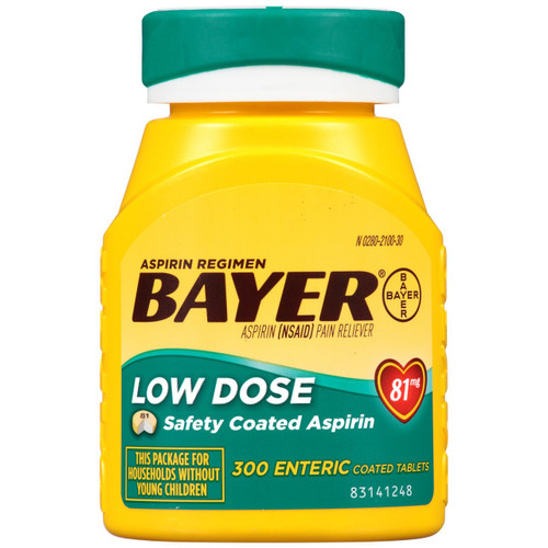 Bayer Low Dose Aspirin for Heart, Enteric Coated Aspirin