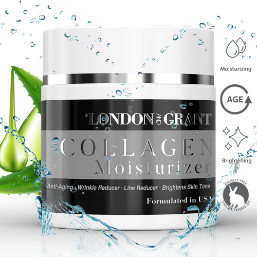 London and Grant Collagen Moisturizer - Anti Aging Collagen Face Moisturizer for Reducing Wrinkles - 59g / 2fl.Oz