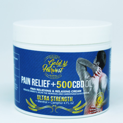 Gold Harvest Pain Relief +500 CBD Oil Cream