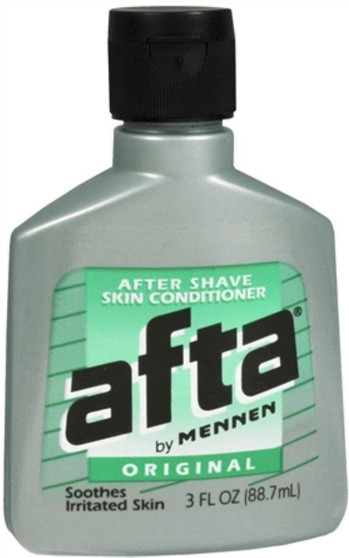 Afta After shave skin conditioner and lotion