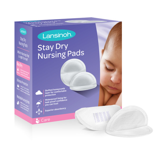 Lansinoh Stay Dry Disposable Nursing Pads for Breastfeeding , 36 ct