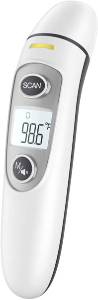 Digital Thermometer Multi-Use Infrared Thermometer Instant Testing in One Second  Quick Read Thermometer with Fever Alarm Forehead and Ear Thermometer for Baby Kids & Adults | Corrica Brands