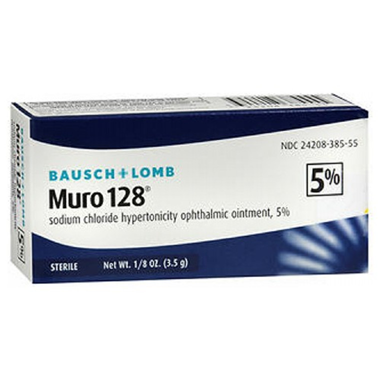 Bausch and Lomb Muro 128 5% Ointment,0.12 oz