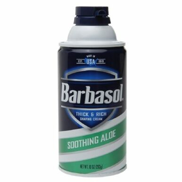 Barbasol Soothing Aloe Thick and Rich Shaving Cream , 10 oz - 3 Pack