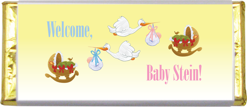Baby Shower/Sprinkle Chocolate Bar (1.5 oz.)