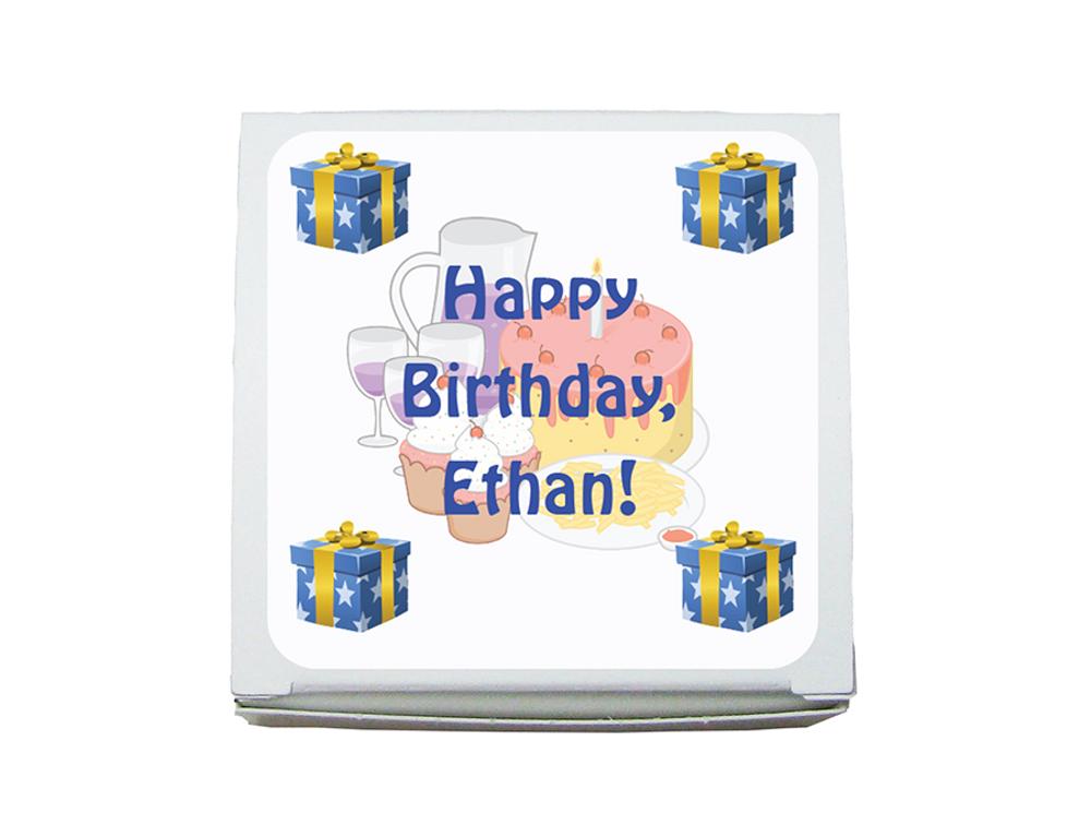 Mini Favor Box Happy Birthday-(1.5 ozs.)