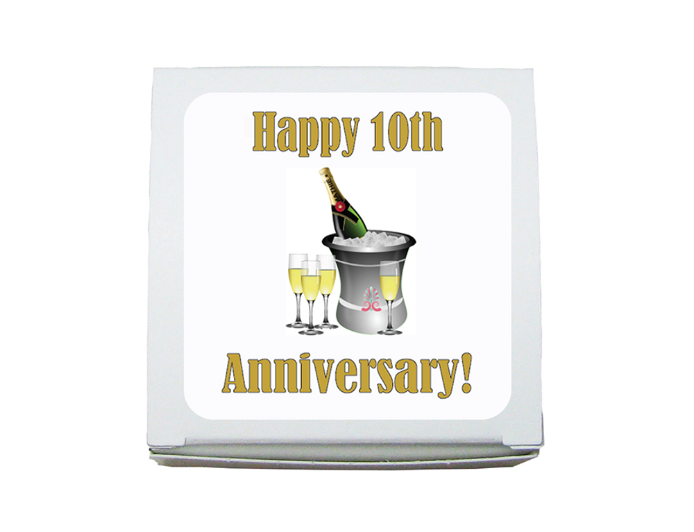 Mini Favor Box Anniversary-(1.5 ozs.)