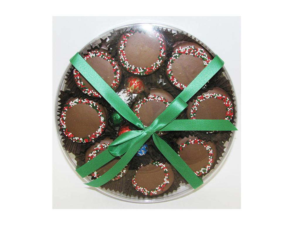 Christmas Oreos in Round Box