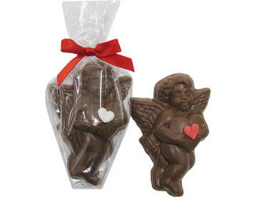 Solid chocolate Cupid weighing 1.5 ounces.  Delicious and adorable!