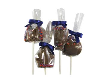 Premium solid chocolate Halloween mini-pop assortment.  $2.25 per pop.