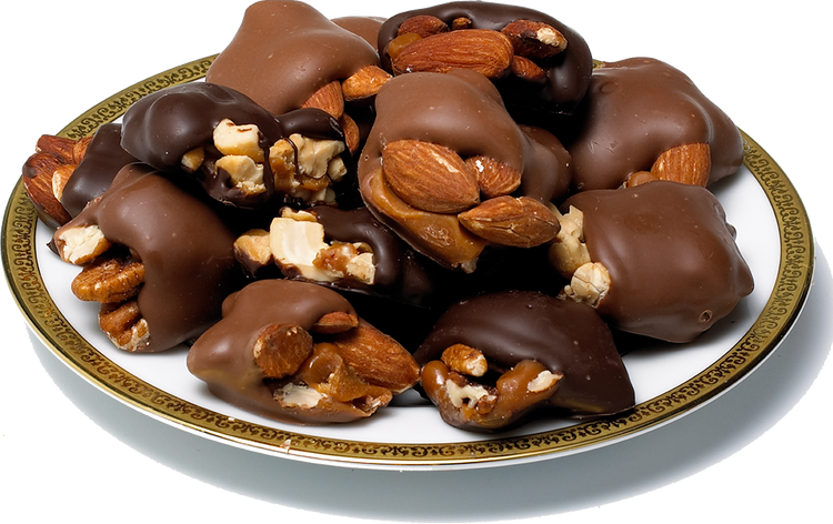 Assorted Caramel Nut Patties