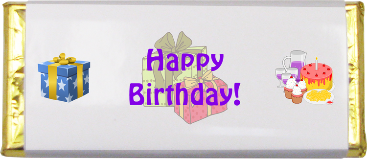 Happy Birthday Chocolate Bar (1.5 oz.)