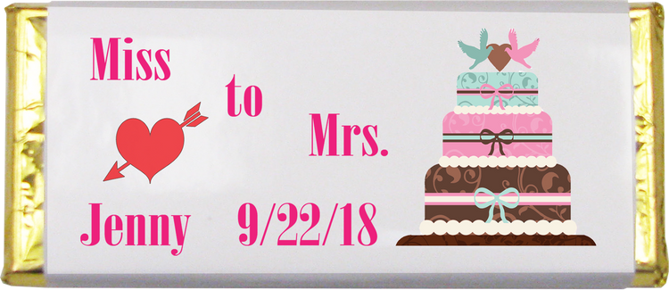 Bridal Shower Chocolate Bar (1.5 oz.)