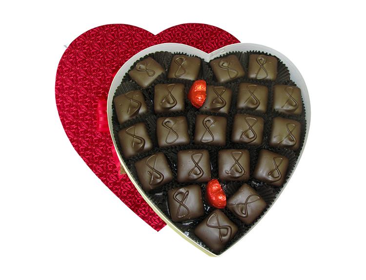 Caramel Bottom Marshmallow Heart