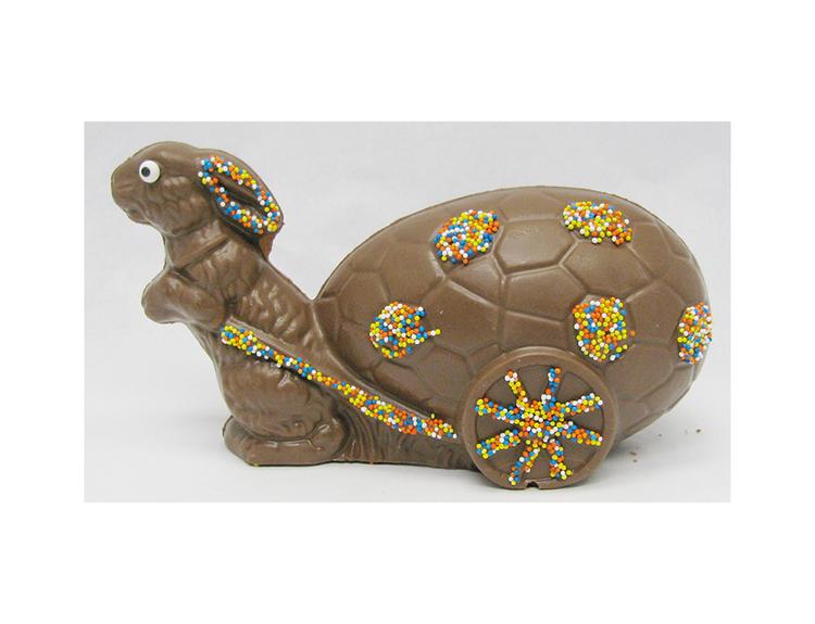 Bunny Pulling Egg