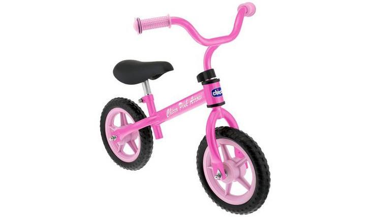 Ride on pink arrow balance bike