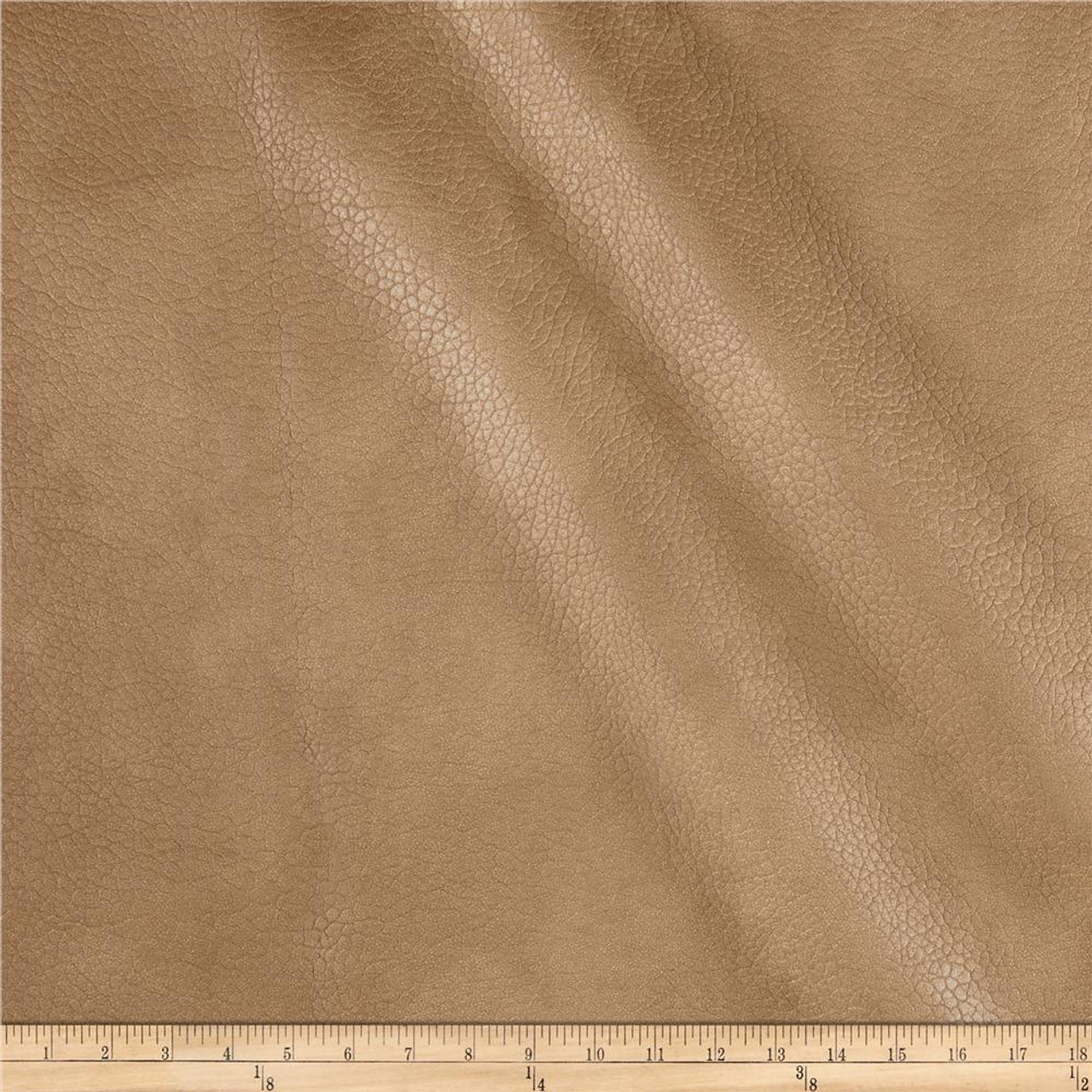 """Camel Tan Faux Leather Vinyl Fabric Pleather 10 Yards Car Upholstery 54/"""" Wide"""