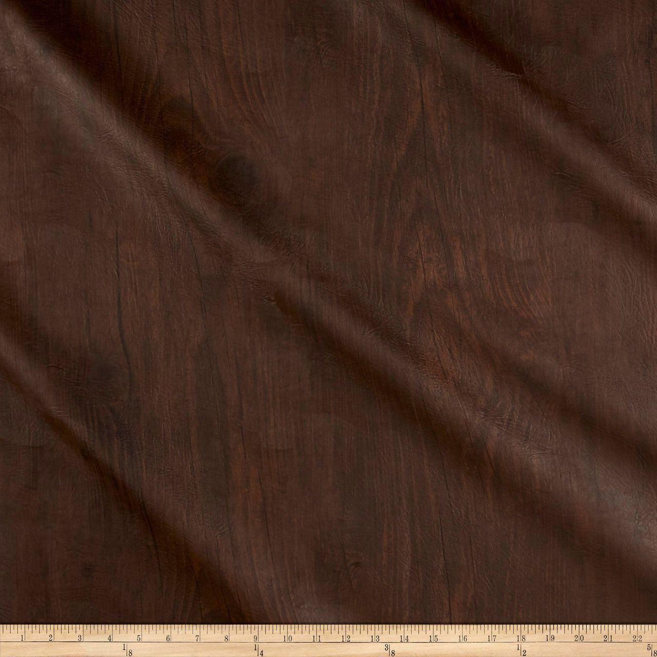 Richloom Tough Faux Leather Pleather Vinyl Dellwood Walnut
